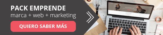 Pack Emprende --> marca + web + marketing