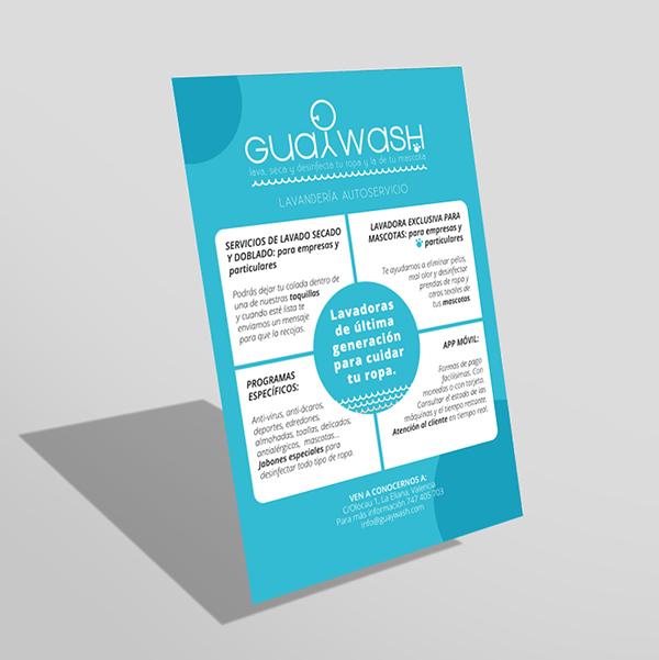 Diseño de marca y rotulación Guaywash